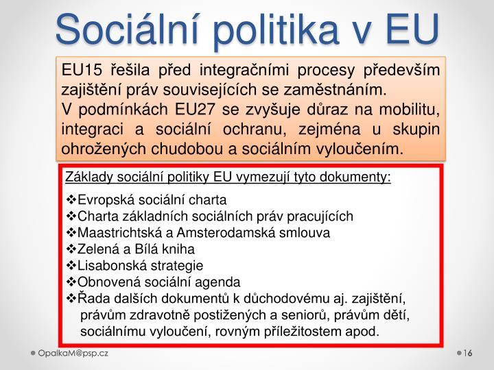 Sociální politika v EU