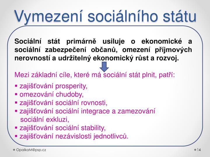 Vymezení sociálního státu