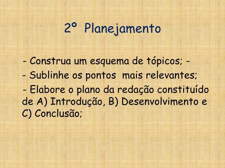 2º  Planejamento