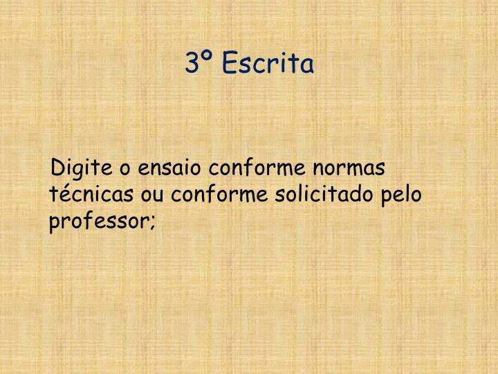 3º Escrita