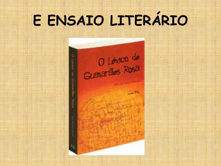 E ENSAIO LITERÁRIO