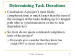 determining task durations