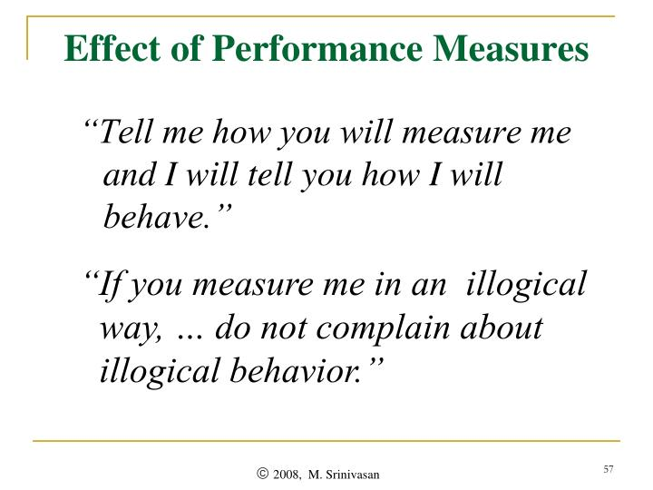 Effect of Performance Measures