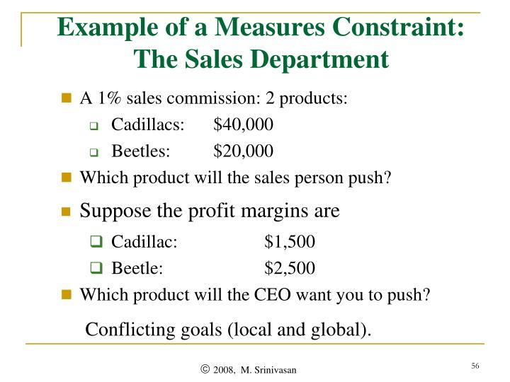 Example of a Measures Constraint: