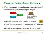 managing projects under uncertainty1