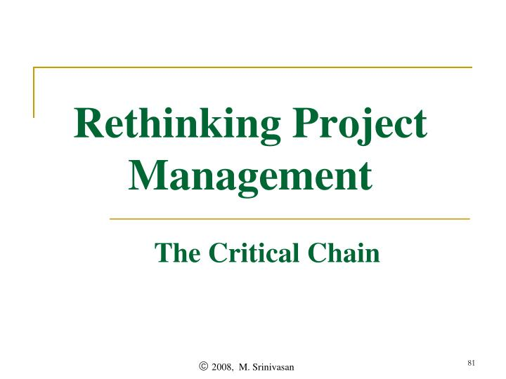 Rethinking Project Management