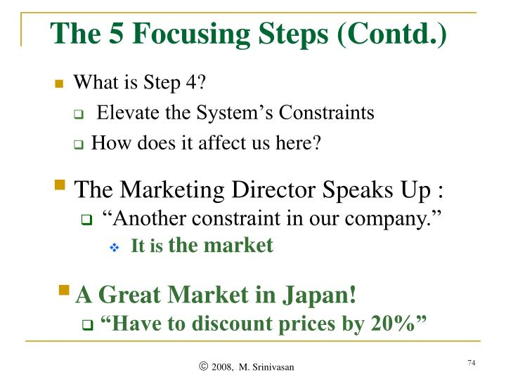 The 5 Focusing Steps (Contd.)