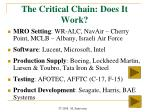 the critical chain does it work