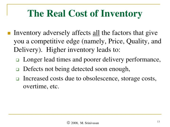 The Real Cost of Inventory