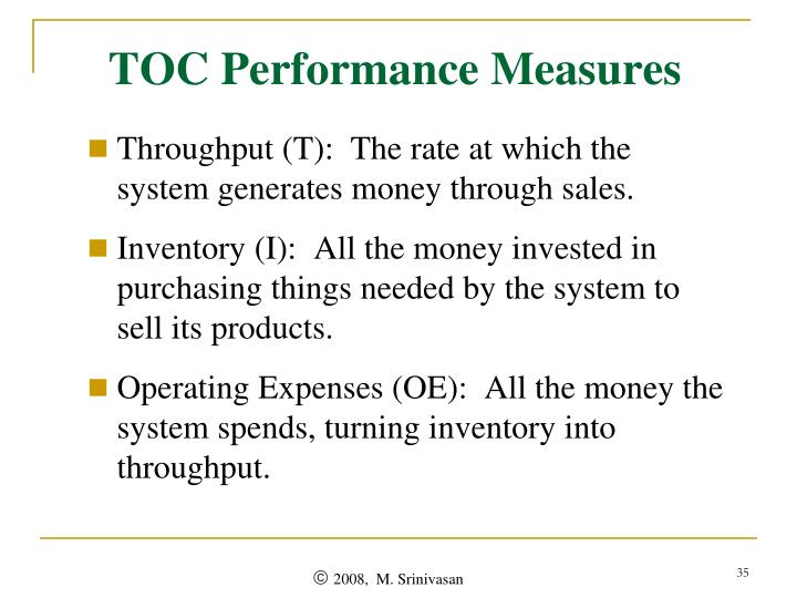 TOC Performance Measures