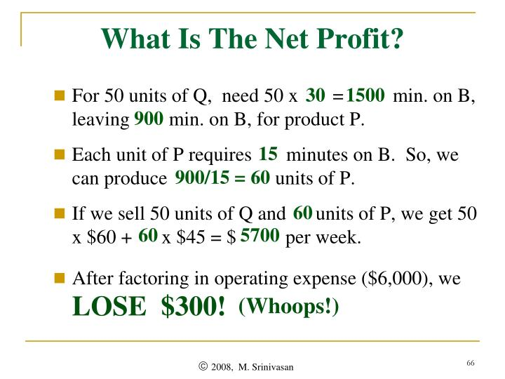 What Is The Net Profit?