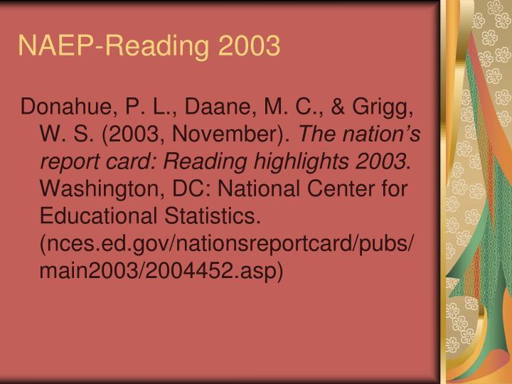 NAEP-Reading 2003