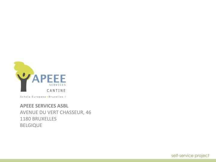 APEEE SERVICES ASBL
