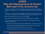 apeee r le des repr sentants de section main task of the sections rep