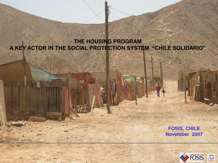 THE HOUSING PROGRAM
