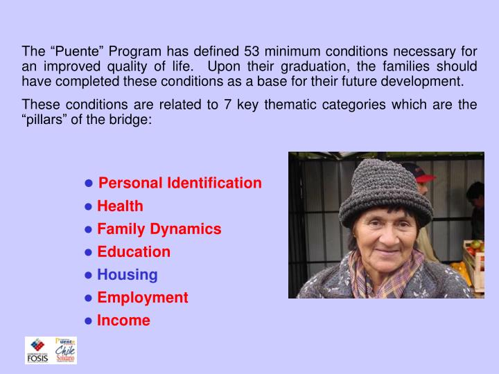 The housing program a key actor in the social protection system chile solidario