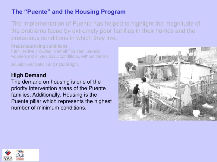 "The ""Puente"" and the Housing Program"