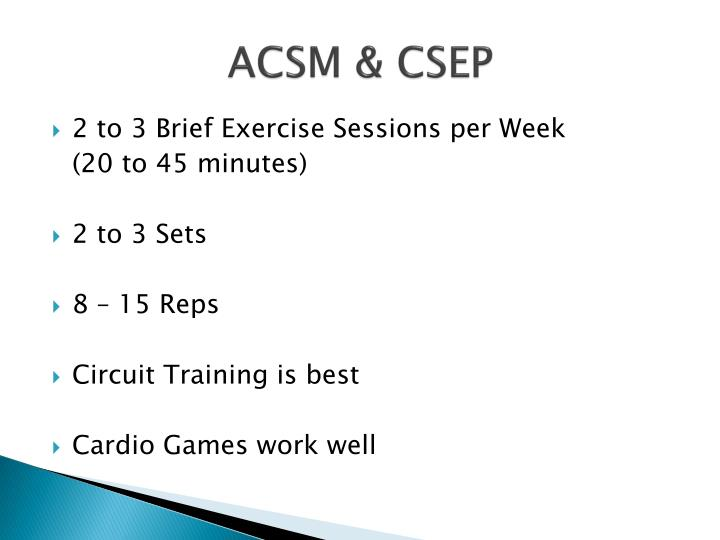ACSM & CSEP