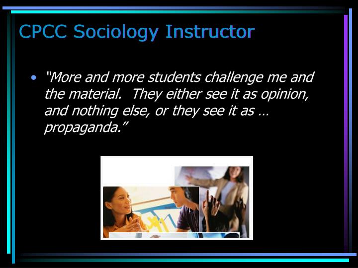 CPCC Sociology Instructor