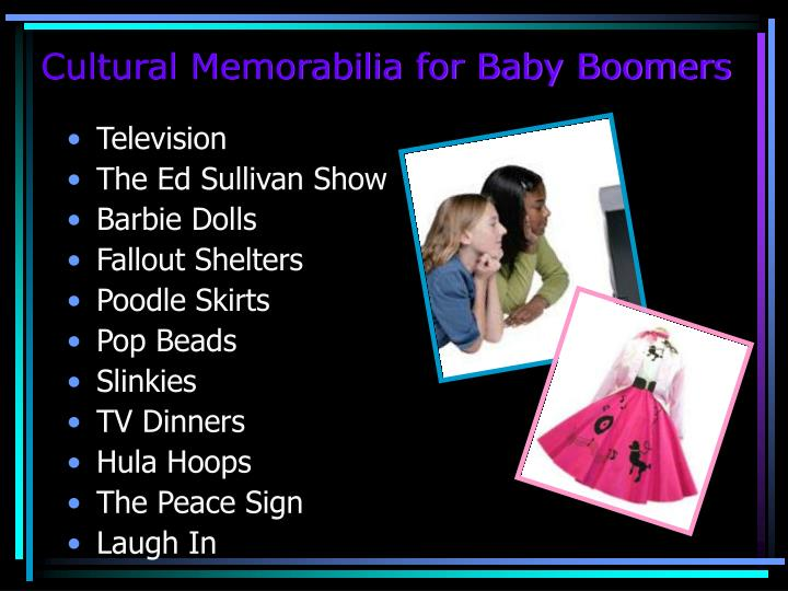 Cultural Memorabilia for Baby Boomers