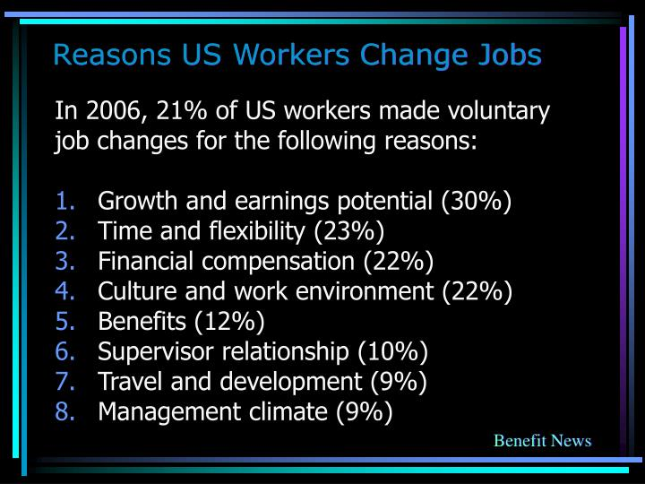 Reasons US Workers Change Jobs