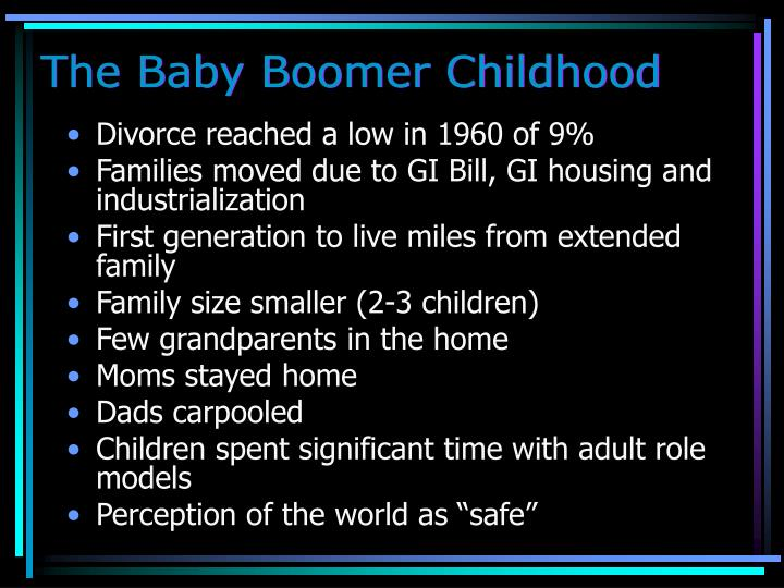 The Baby Boomer Childhood