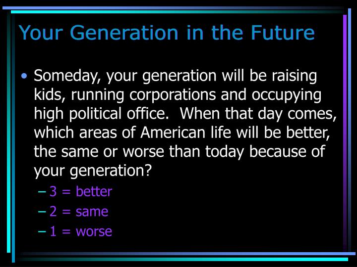 Your Generation in the Future