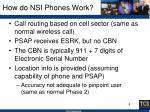 how do nsi phones work