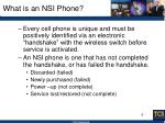 what is an nsi phone
