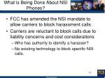 what is being done about nsi phones