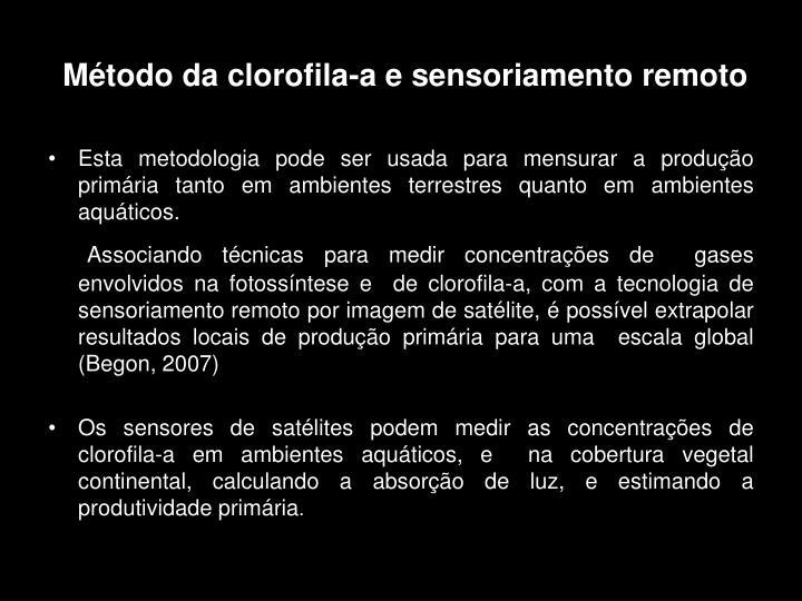 Método da clorofila-a e sensoriamento remoto