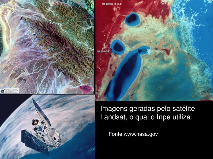 Imagens geradas pelo satélite Landsat, o qual o Inpe utiliza