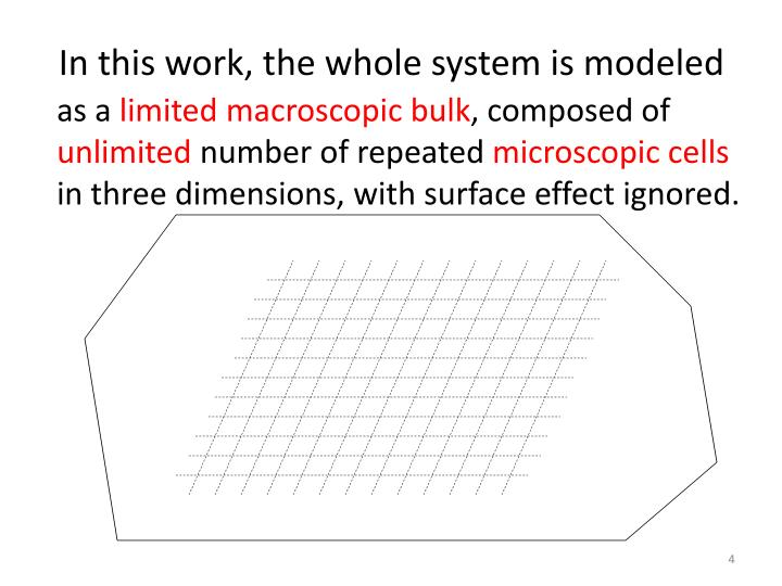 In this work, the whole system is modeled