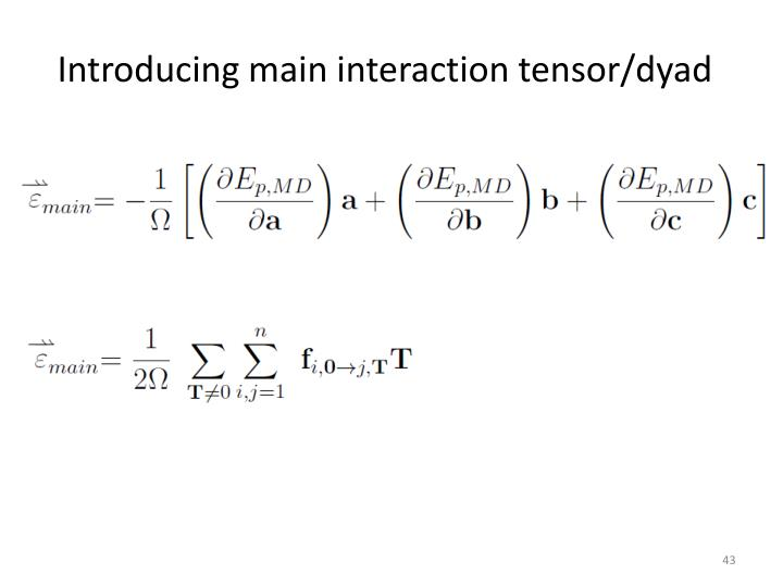 Introducing main interaction tensor/dyad