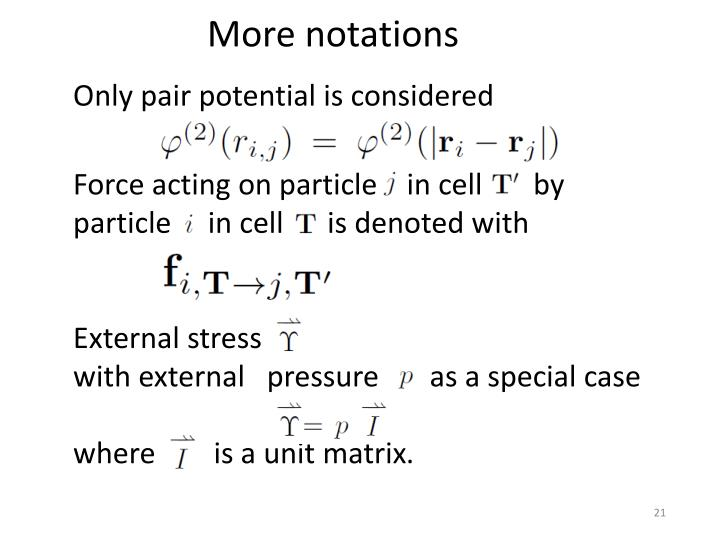 More notations