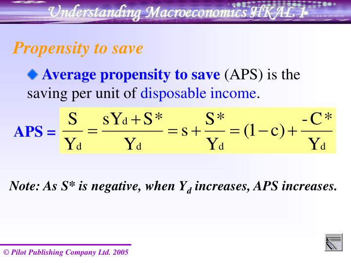 Propensity to save
