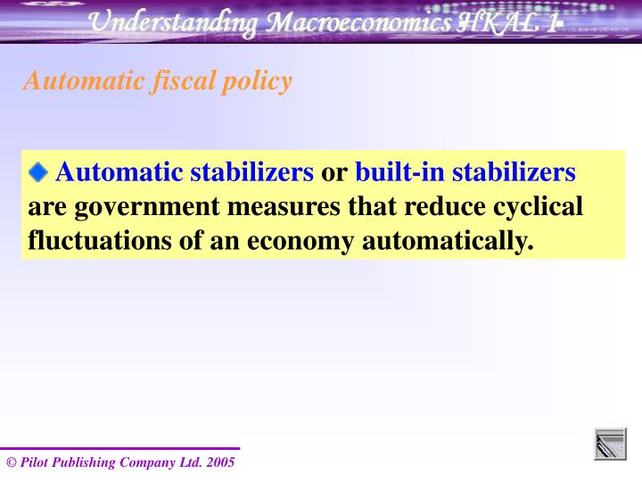Automatic fiscal policy