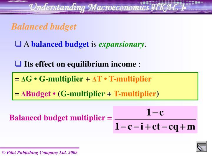 Balanced budget