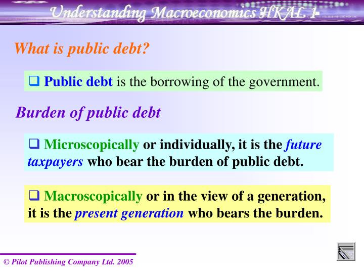 What is public debt?