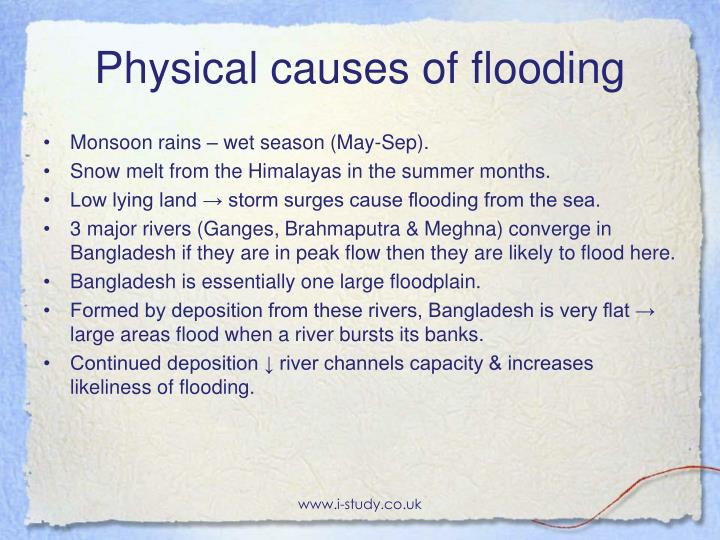 Physical causes of flooding