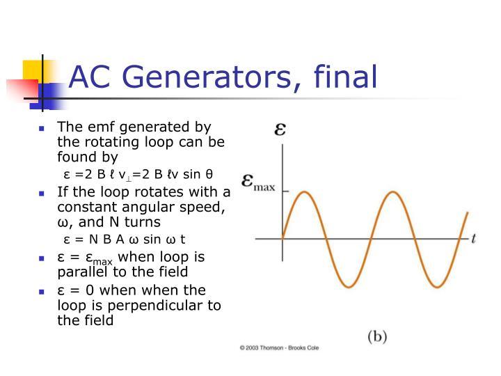 AC Generators, final