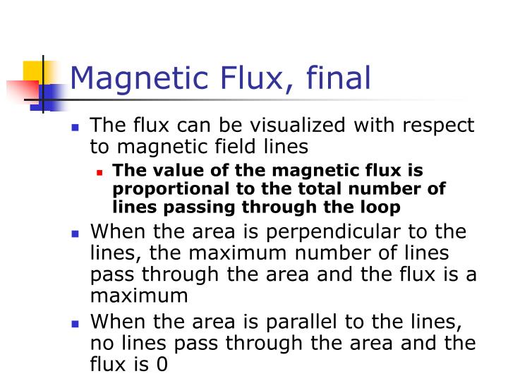 Magnetic Flux, final