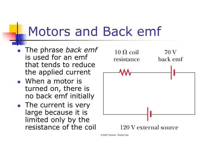 Motors and Back emf