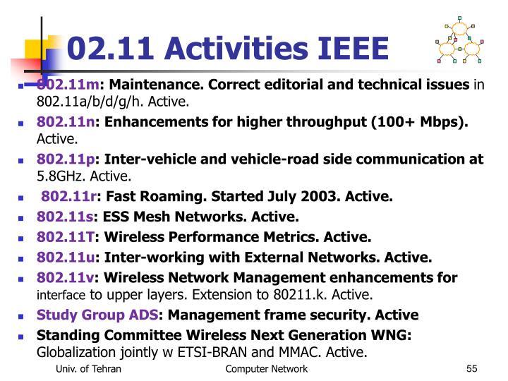 02.11 Activities IEEE
