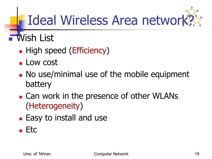Ideal Wireless Area network?