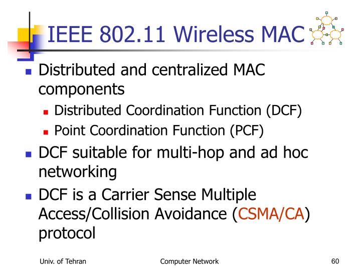 IEEE 802.11 Wireless MAC