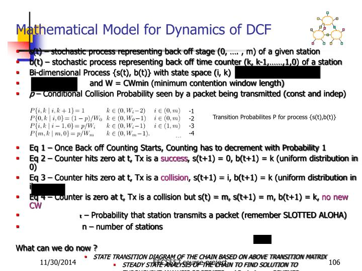 Mathematical Model for Dynamics of DCF