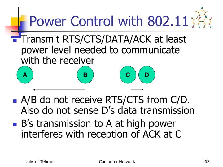 Power Control with 802.11