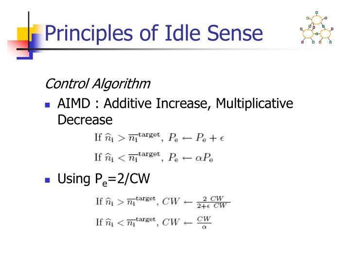 Principles of Idle Sense