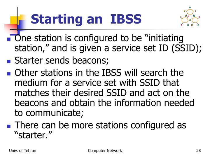 Starting an  IBSS